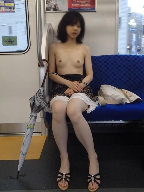 電車露出画像 005
