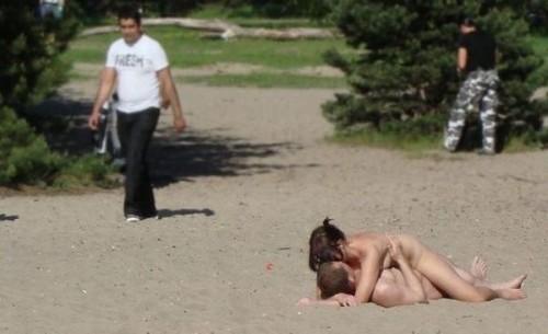 野外セックス画像 001